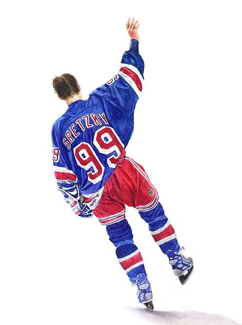 Wayne Gretzky, The Farewell - Print