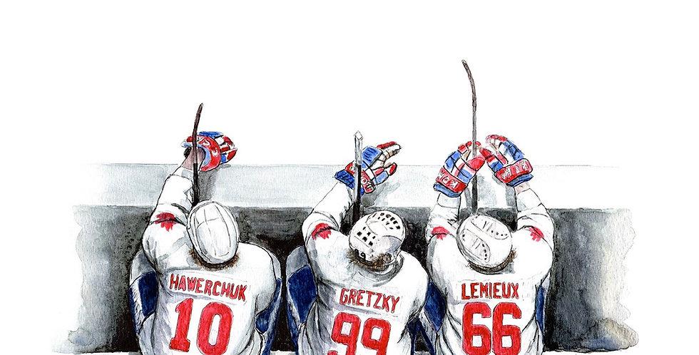 1987 Team Canada Bench - Print
