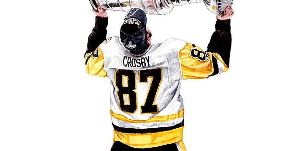 Sidney Crosby Stanley Cup - Print