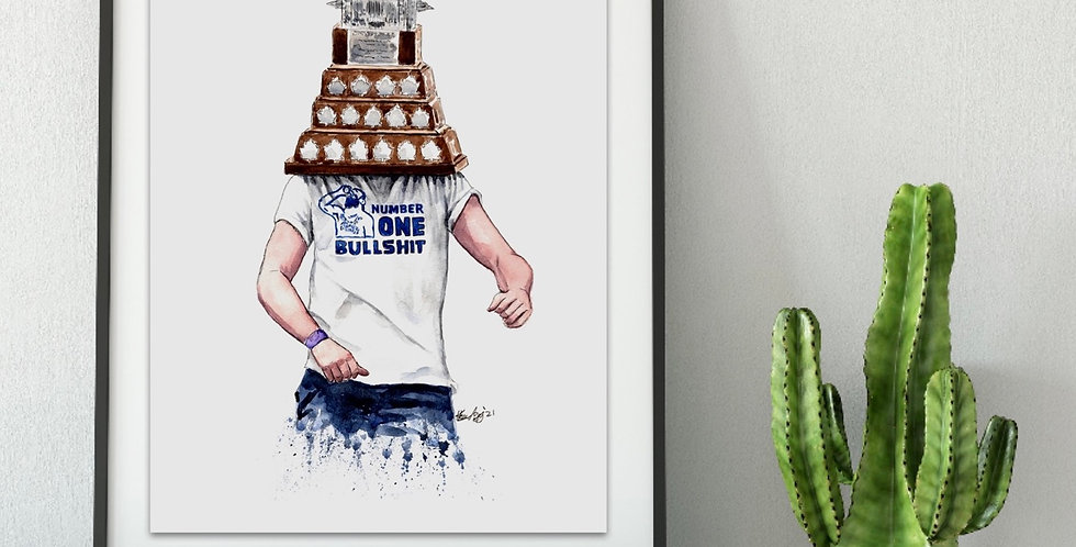 Vasy Dancing with Trophy, 2021 Stanley Cup Champion  - Print