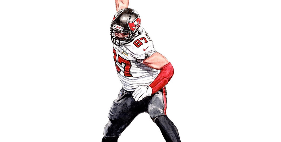 Rob Gronkowski  - 2021 Super Bowl Champ - Print