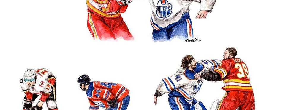 Battle of Alberta Set, Games 1-3 - 3 Prints