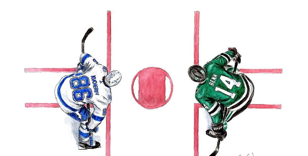 Kucherov vs Benn - 2020 Stanley Cup Finals Faceoff - Print