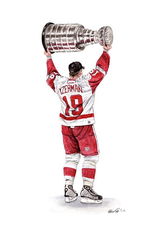 Steve Yzerman, Stanley Cup - Print