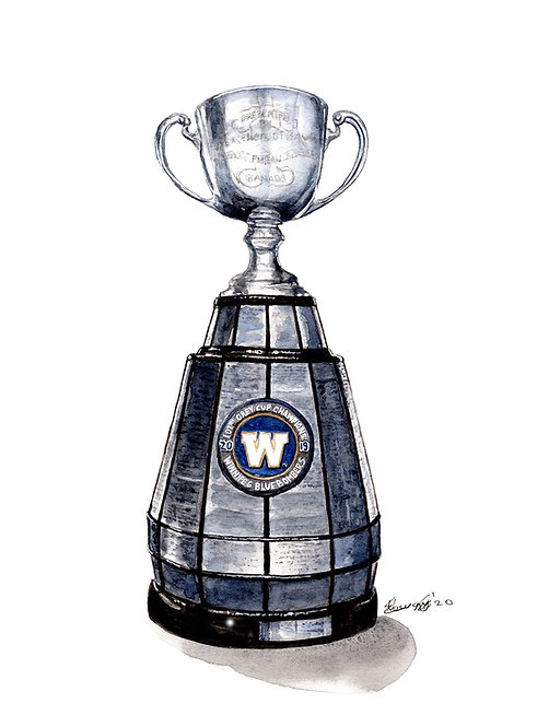 2019 Bomber Grey Cup - Print