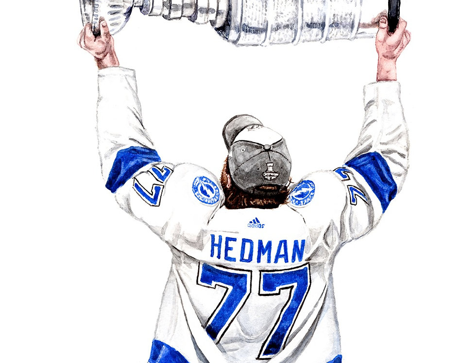 Victor Hedman, 2020 Stanley Cup Champions - Print