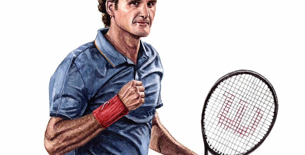 Roger Federer - Print