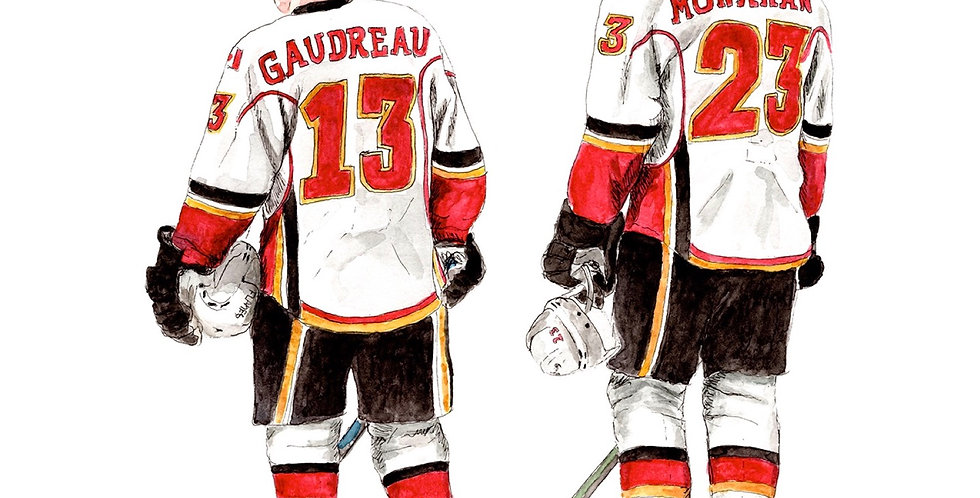 Calgary Flames Line - Print