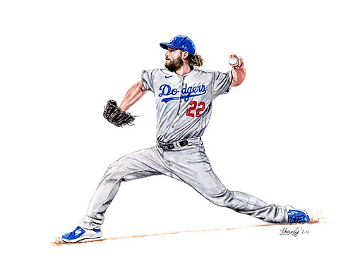Clayton Kershaw, 2020 World Series Champion - Print