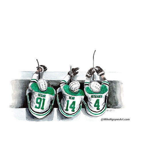 Dallas Stars Bench - Print