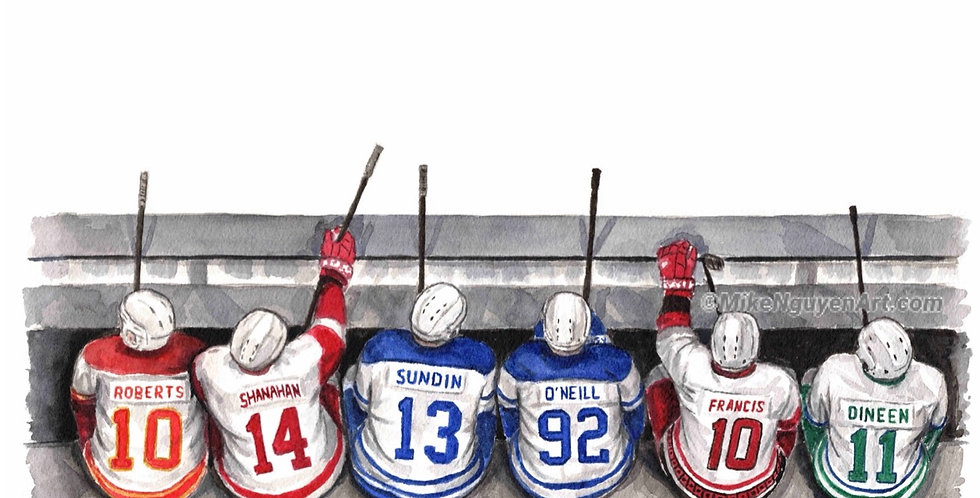 JEFF O'NEIIL'S LINEMATES - ORIGINAL owned by Jeff O'Neill