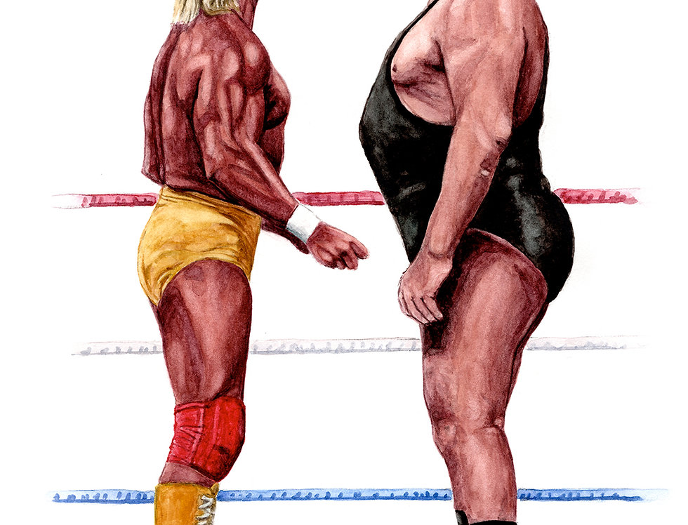 Hulk Hogan vs Andre the Giant - Print