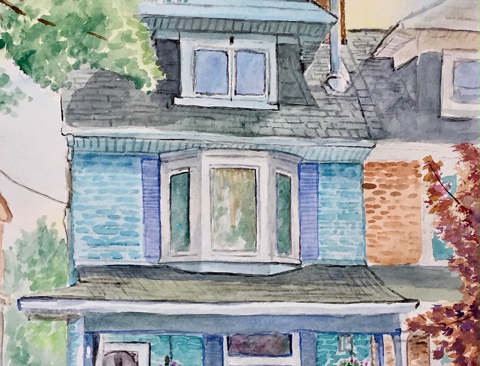 CUSTOM - HOUSE PORTRAIT - SOLD