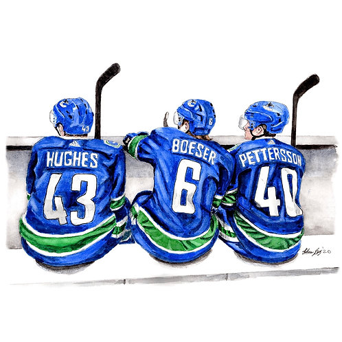 Vancouver Canucks Line - Print