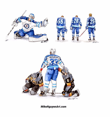 Winnipeg Jets Set - 3 Prints