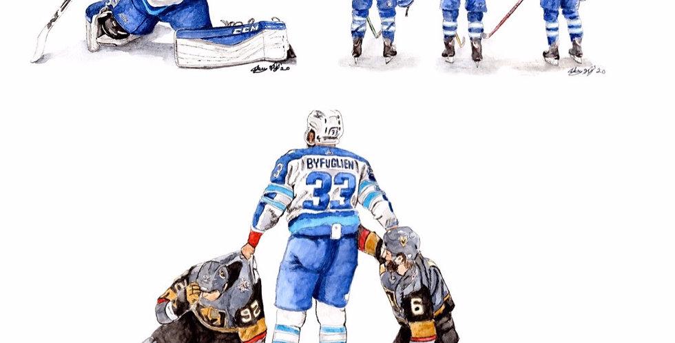 Winnipeg Jets Set - 3 Prints