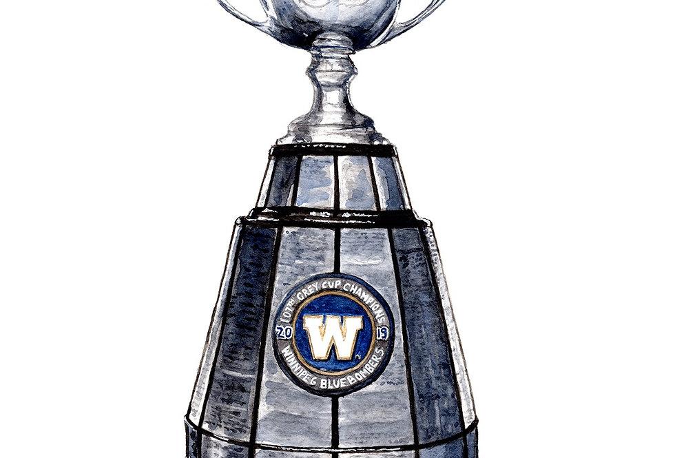 BOMBERS GREY CUP - ORIGINAL - SOLD