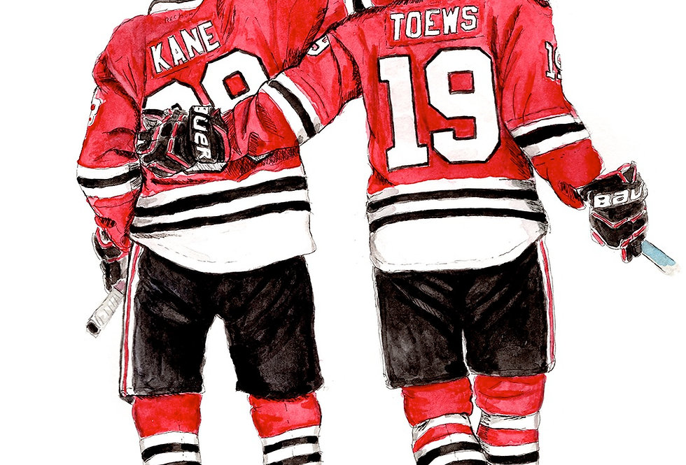 Chicago Blackhawks Line - Print