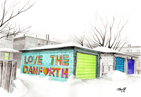 Love the Danforth - Print