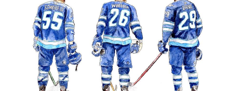 Winnipeg Jets Line - Print