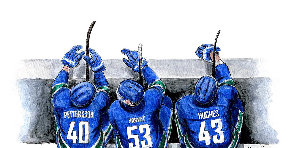 Canucks 2020 Bench - Print