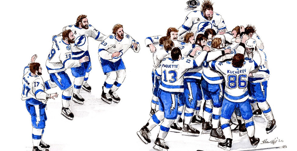 Tampa Bay lightning , 2020 Stanley Cup Champions - Print