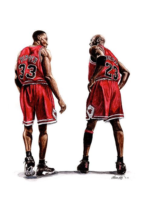 Jordan and Pippen - Print