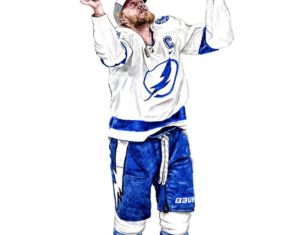 Steven Stamkos, 2020 Stanley Cup Champions - Print
