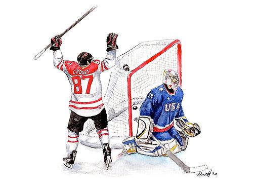 Sidney Crosby, Golden Goal - Print