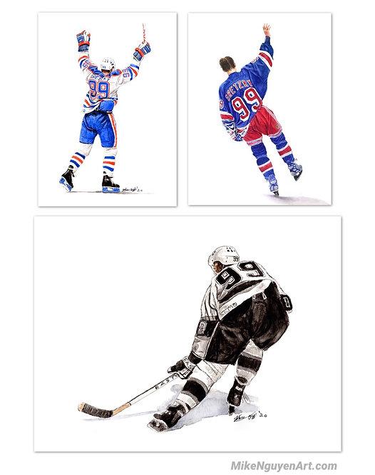 Wayne Gretzky Set - 3 Prints