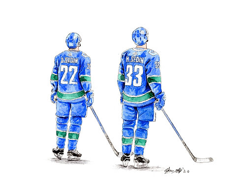 Daniel & Henrik Sedin Twins - Print