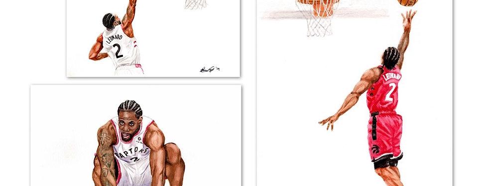 Kawhi Set - 3 Prints