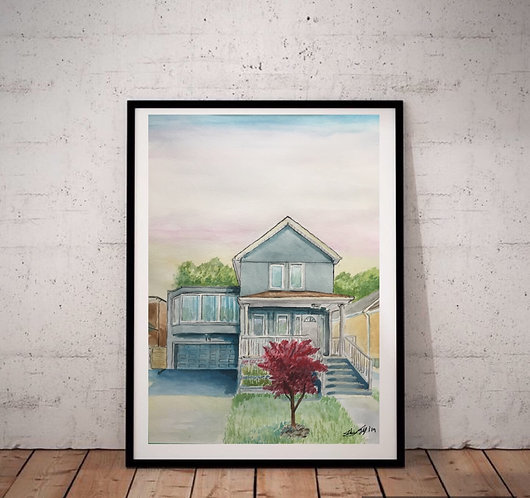 Eastyork house Print