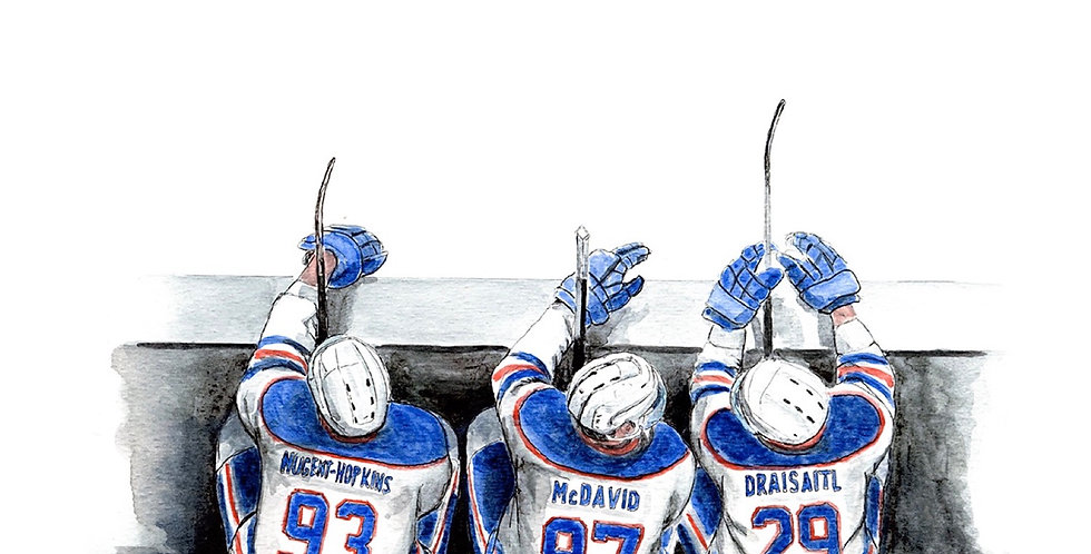 Oilers Bench - Print