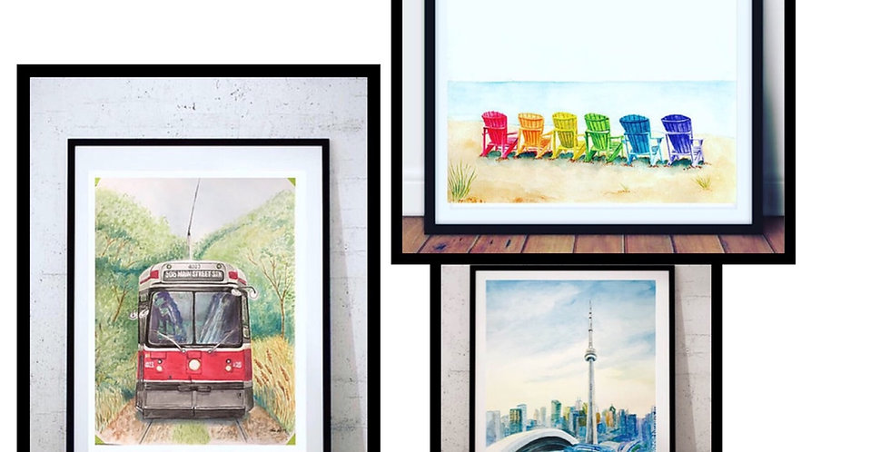 3 piece Toronto Print Set
