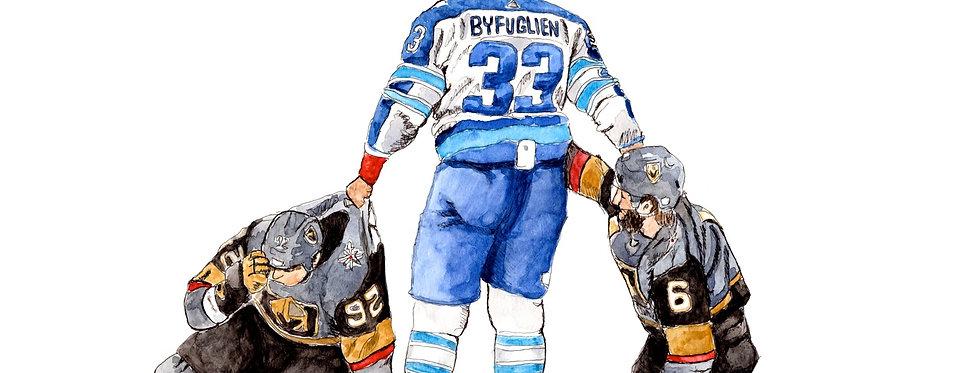 Dustin Byfuglien - Print