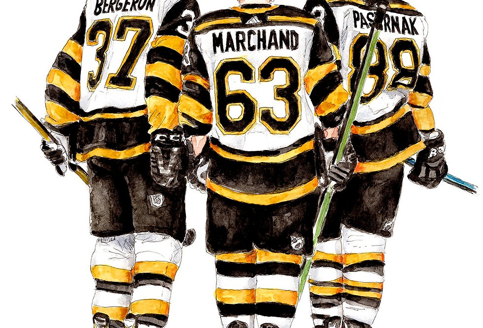 Boston Bruins Line - Print