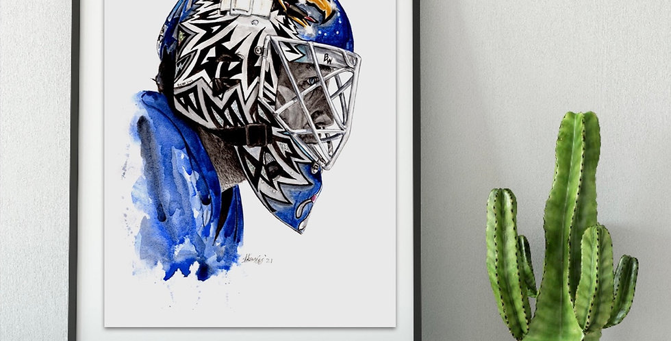 Ed Belfour Mask - Print