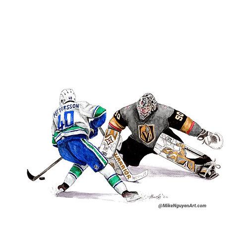 Elias Pettersson vs Robin Lehner - Print