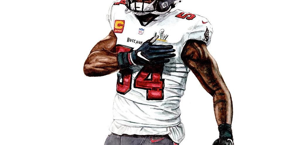 Lavonte David - 2021 Super Bowl Champ - Print