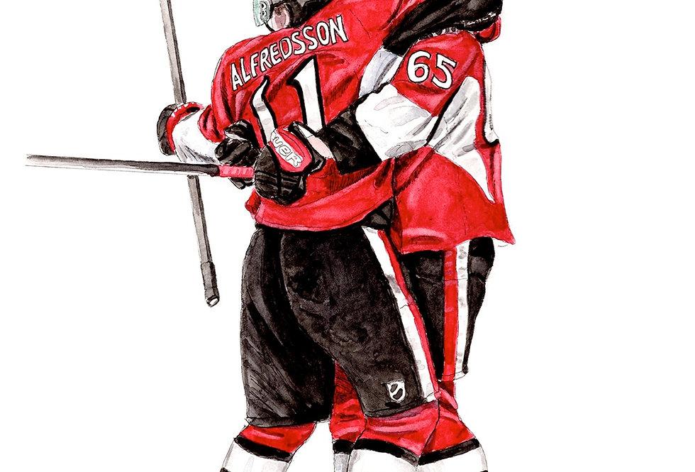 Ottawa Senators Line - Print