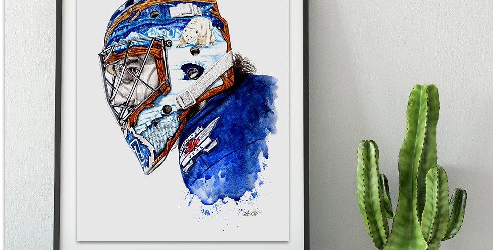 Connor Hellebuyck Mask - Print