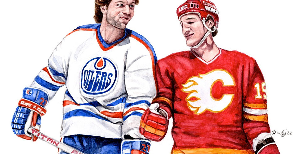 Battle of Alberta - Dave Semenko vs Tim Hunter - Print