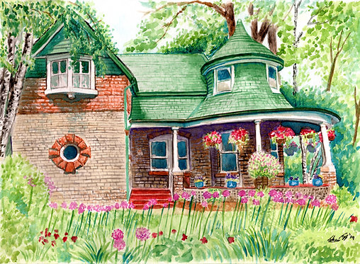 Gardener's Cottage in the Summer - Print