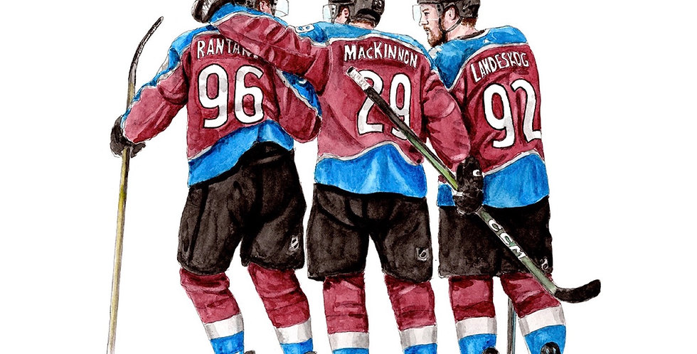 Colorado Avalanche Line - Print