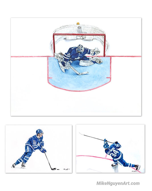 Maple Leafs Set I - 3 Prints