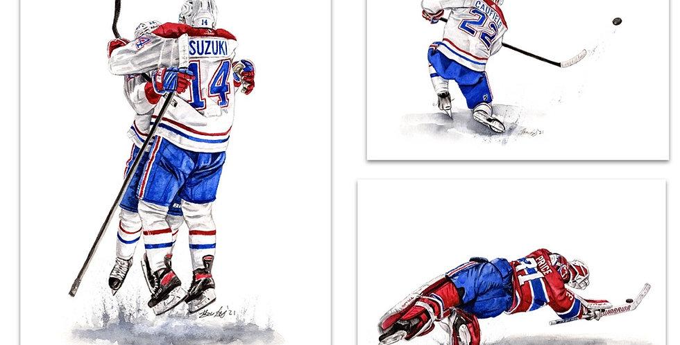 Montreal Canadiens Set - 3 Prints