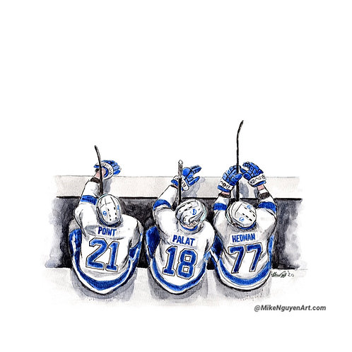 Tampa Bay Lightning Bench - Print