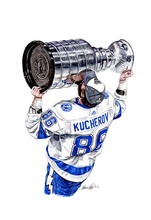 Nikita Kucherov, 2020 Stanley Cup Champions - Print
