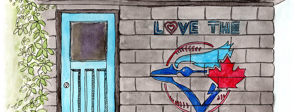 Love The Blue Jays Mural - Print